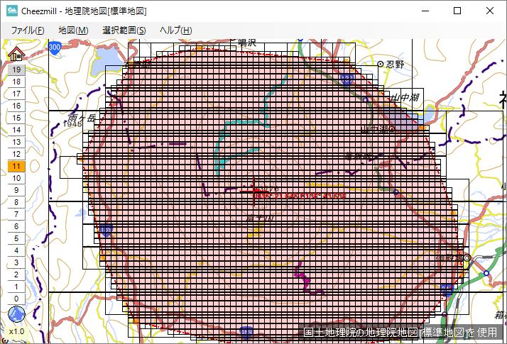 JNXファイルのタイル設定