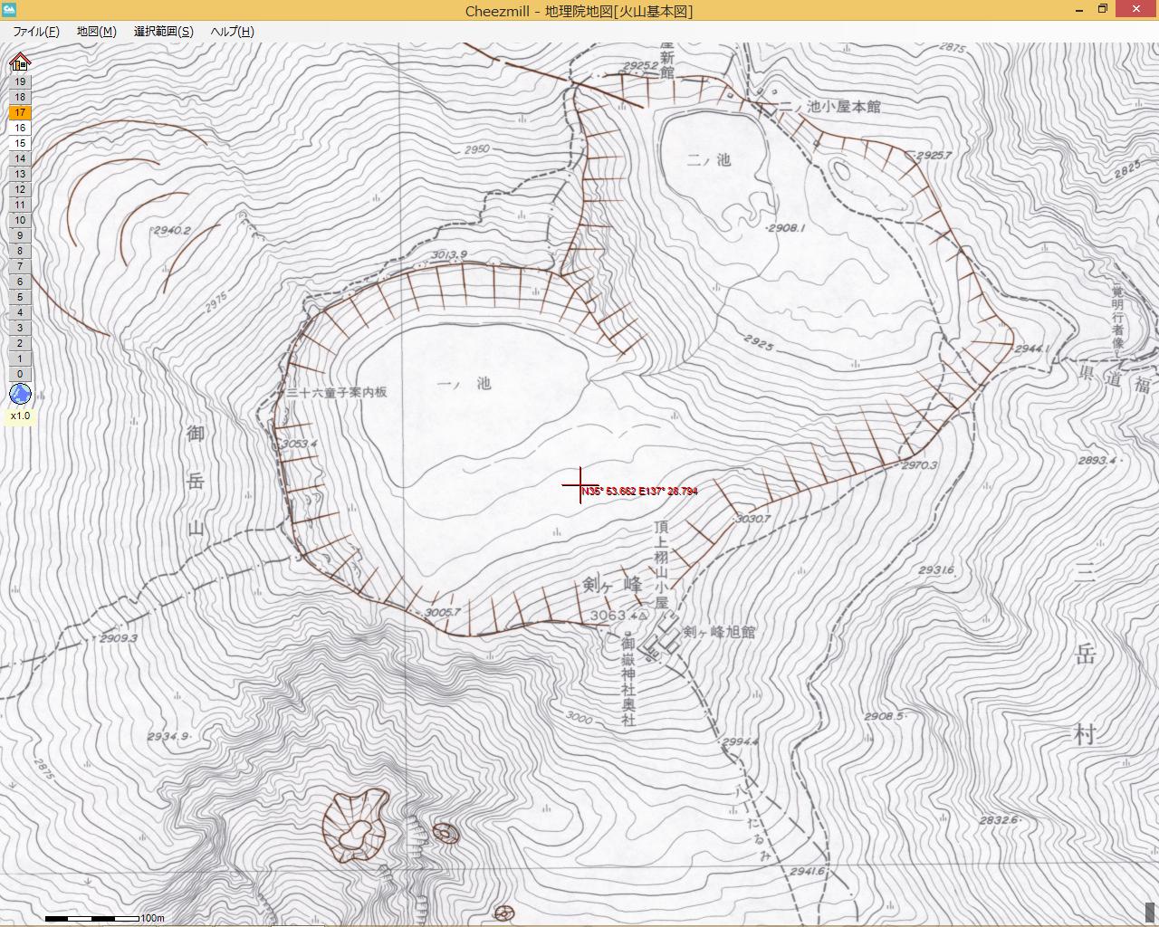 国土地理院 火山基本図
